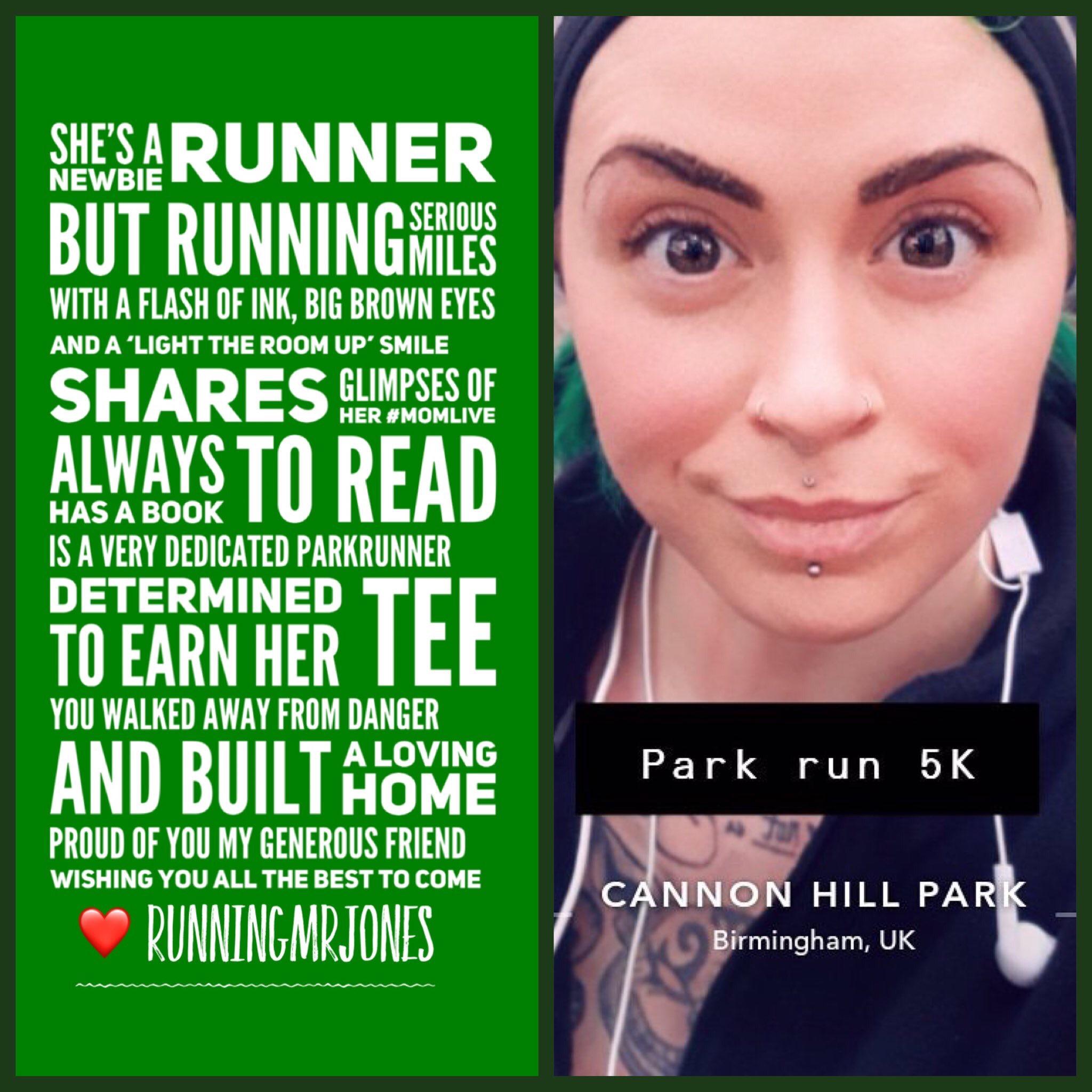 She's a newbie runner